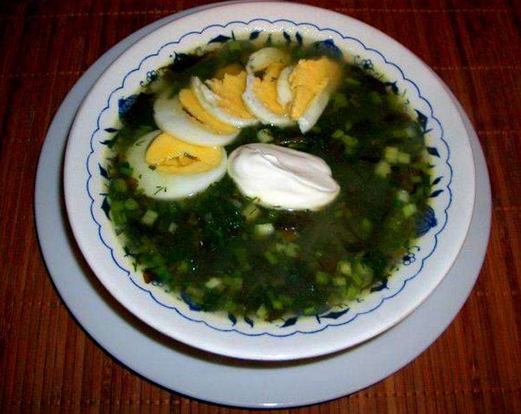 суп со щавелем рецепт с фото